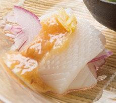 ヤリイカのレモン酢味噌がけ</mt:Var>