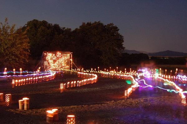 灯ろう・ホタル祭り会場(昨年)