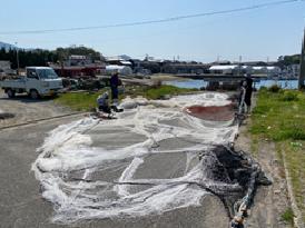 漁に使用する網