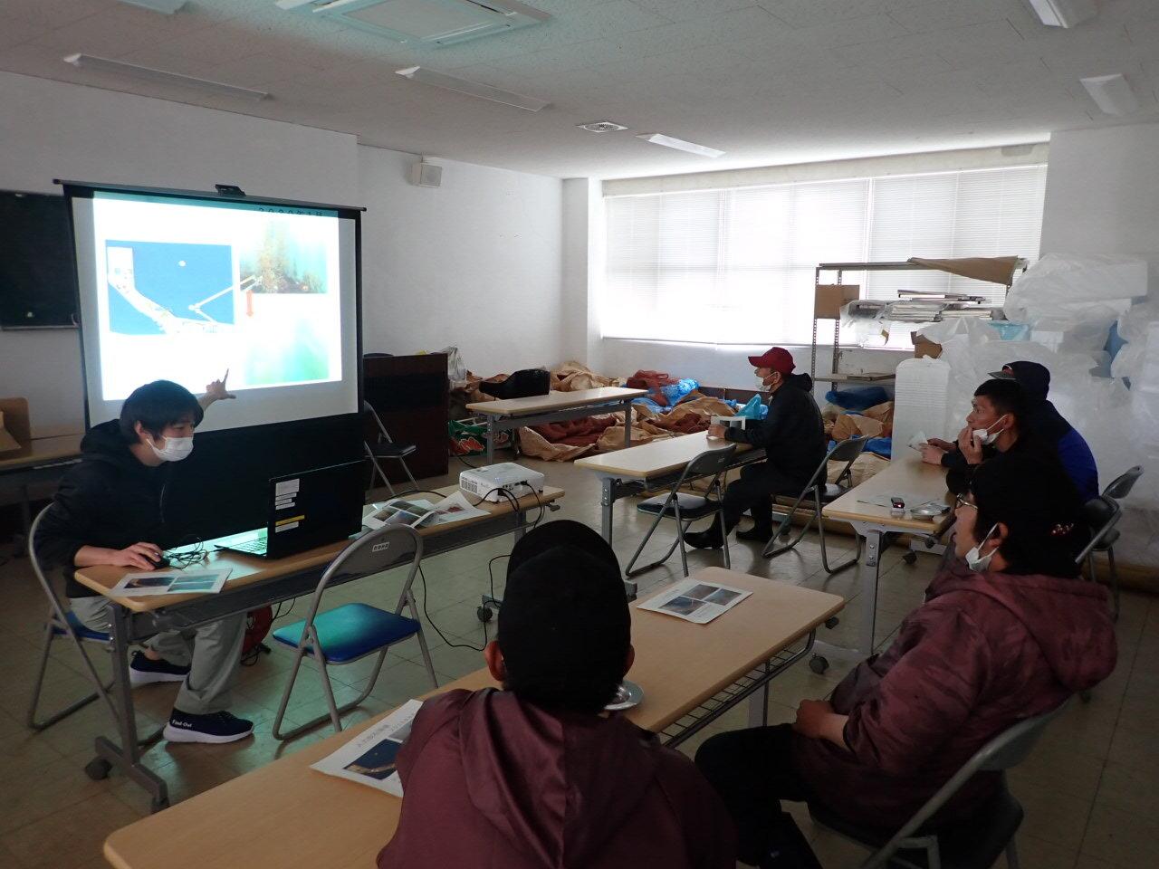 生産に先立ち、収穫の目安・注意点についての勉強会を豊前海研究所と開催しました