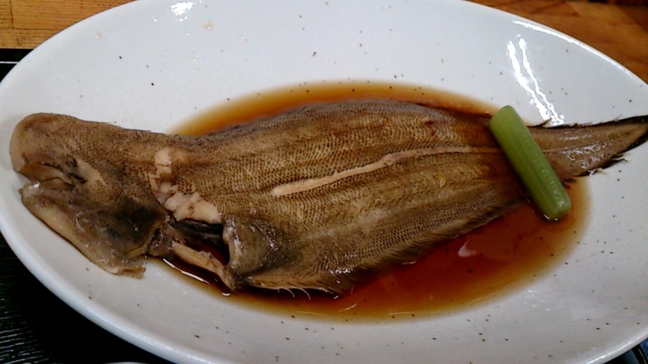 クツゾコ(シタビラメ)の煮付け